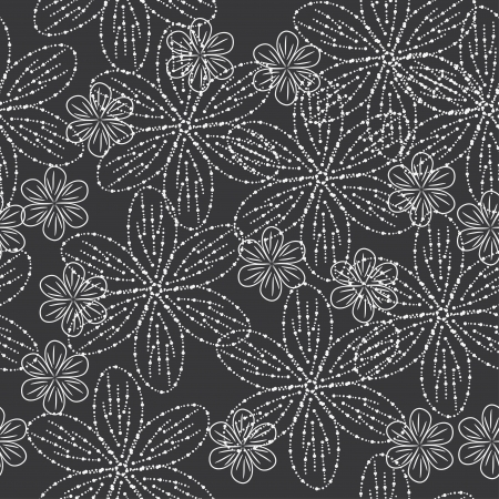 blue damask: beauty winter background with snow flowers. illustration