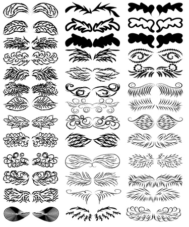 collection of abstract wings.  Vector