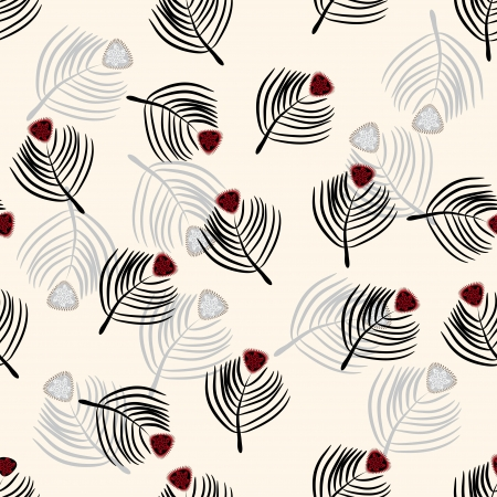 seamless abstract texture with bird feathers. illustration