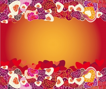 beautiful framework with hearts. illustration Vector