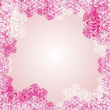 frame with winter snowflakes  for your design Vector