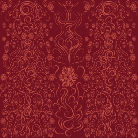 seamless background with floral elements Stock Vector - 16587897