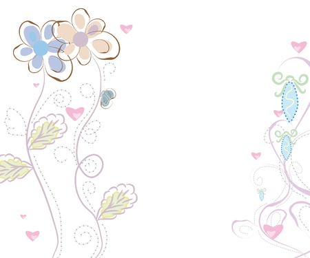 holliday: abstract floral background.  Illustration