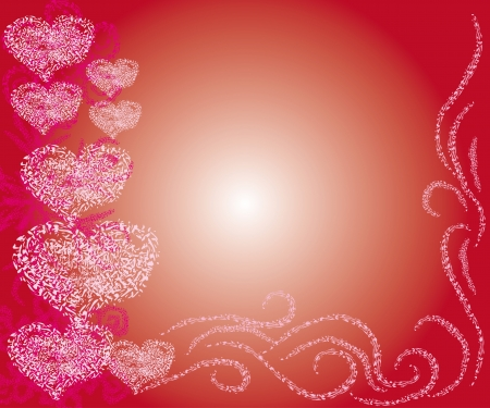 beautiful framework with hearts. Vector