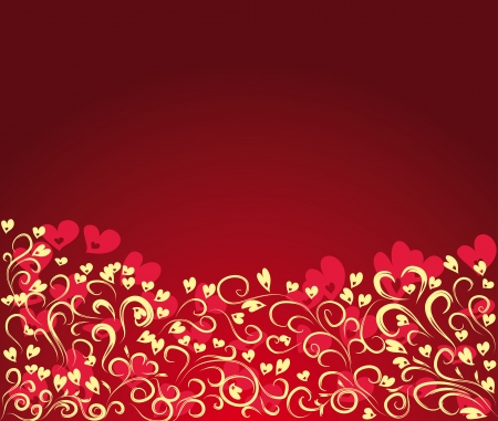 beautiful background with hearts Stock Vector - 17752550