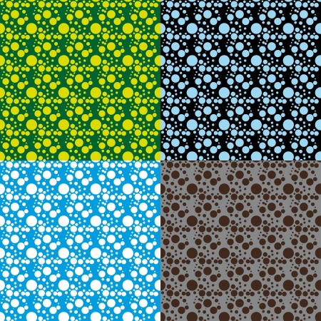 set of simple abstract seamless pattern  Vector illustration Vector