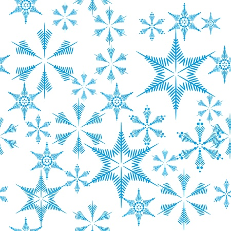 encasement: seamless with snowflakes Illustration