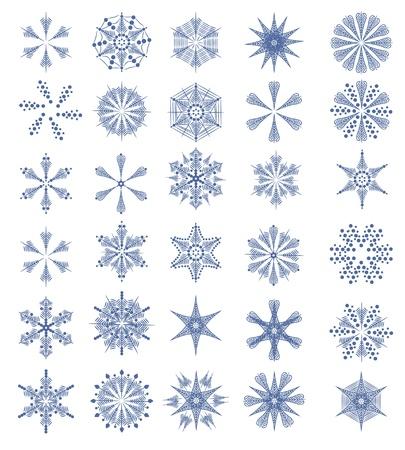 encasement: set with snowflakes Illustration