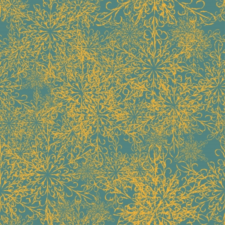 seamless with snowflakes. Vintage background Vector