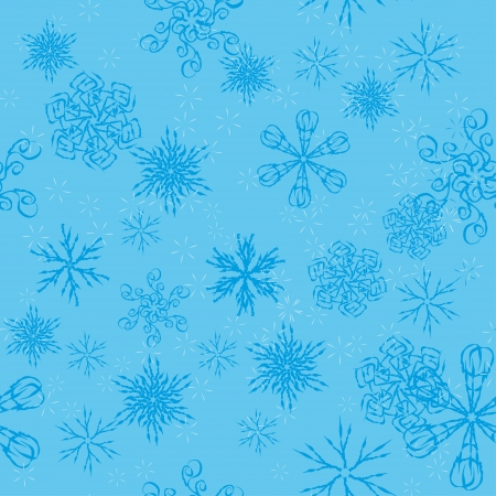 winter seamless with snowflakes Vector