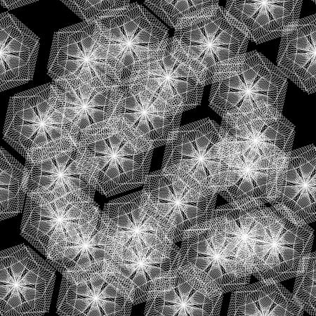 encasement: abstract seamless pattern  illustration Illustration