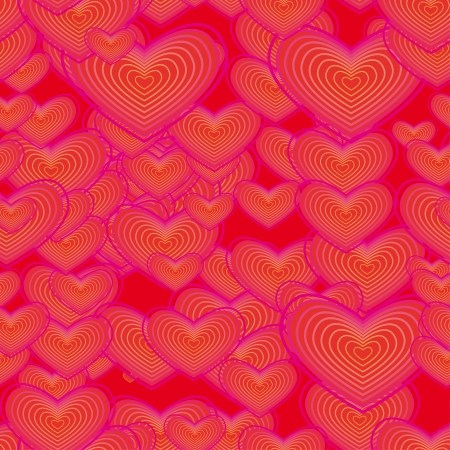 encasement: seamless texture with colorful hearts Illustration