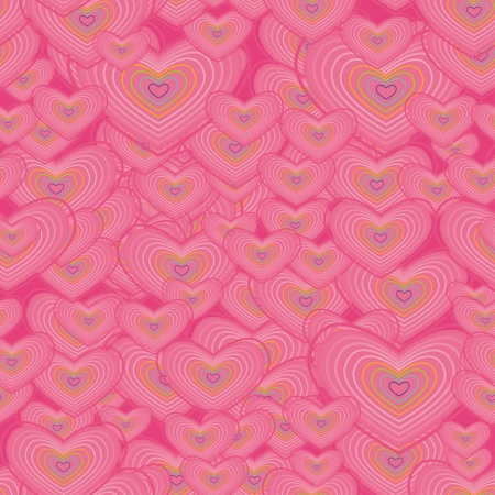 seamless texture with colorful hearts Stock Vector - 21076620