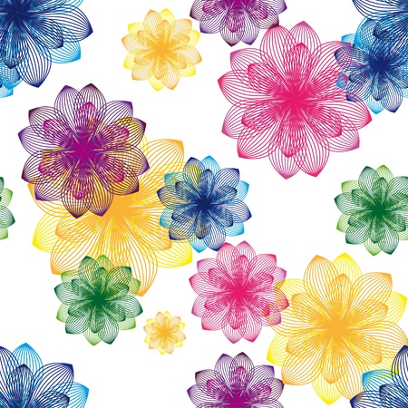 colorful flower background  Seamless texture Stock Vector - 21076627