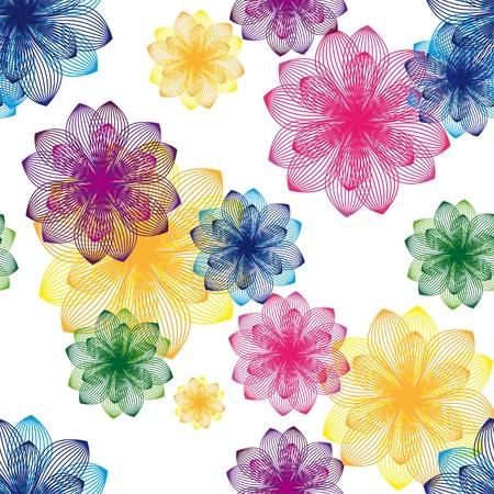 kleurrijke bloem achtergrond Naadloze structuur