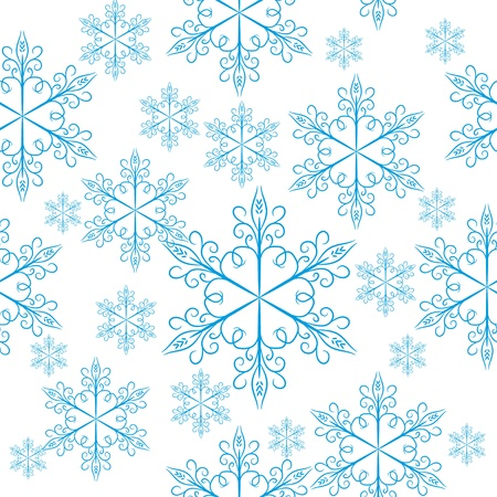 encasement: seamless with snowflakes Illustration