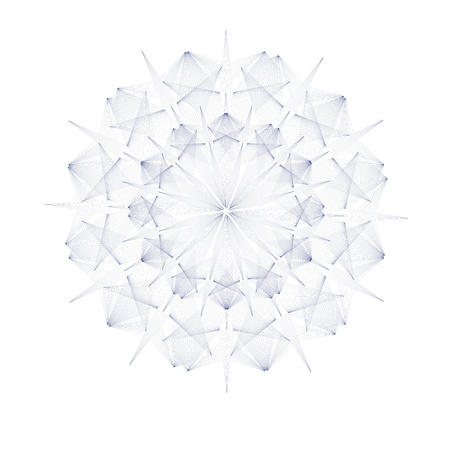 blend: isolated blend snowflake Illustration