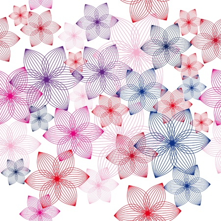 encasement: colorful flower vector background. Seamless texture
