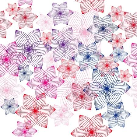 encasement: colorful flower vector background. Seamless texture