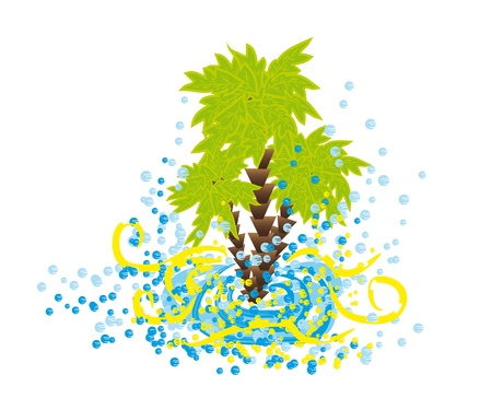 palmtree: isolate palmtree. Summer vector element Illustration