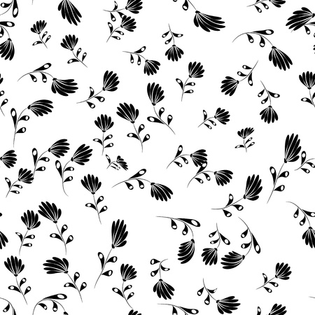 encasement: white and black  floral pattern