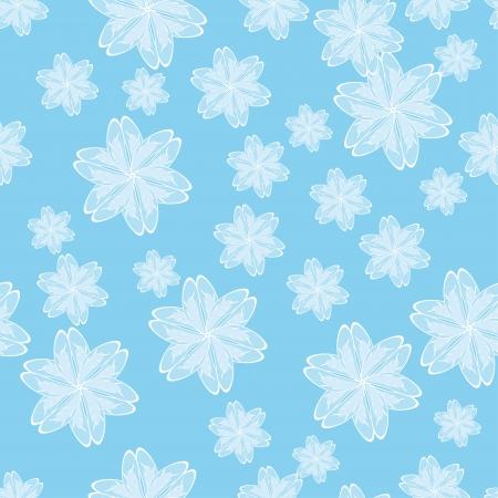 encasement: blue flower vector background. Seamless texture
