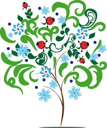 frondage: abstract vector tree with different elements