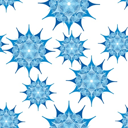 gentle seamless with abstract  flower or snowflakes Vector