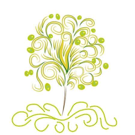 frondage: abstract vector tree