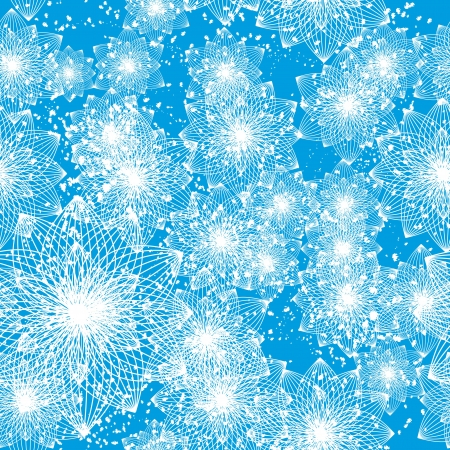 encasement: winter seamless with abstract vector snowflakes or flowers Illustration