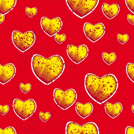 encasement: red love background with drops and sprays