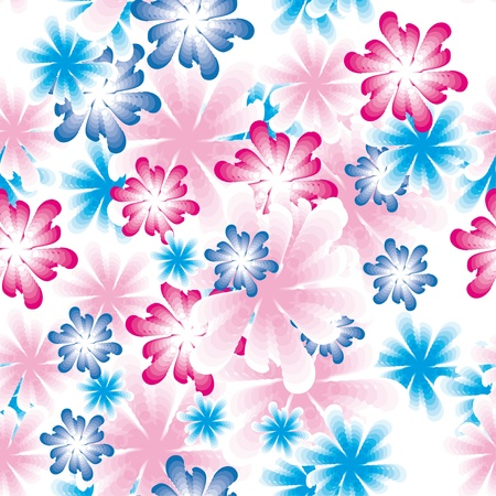 encasement: gentle colorful flower vector background. Seamless texture for your design Illustration