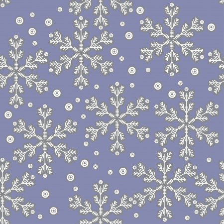 winter seamless with abstract snowflakes