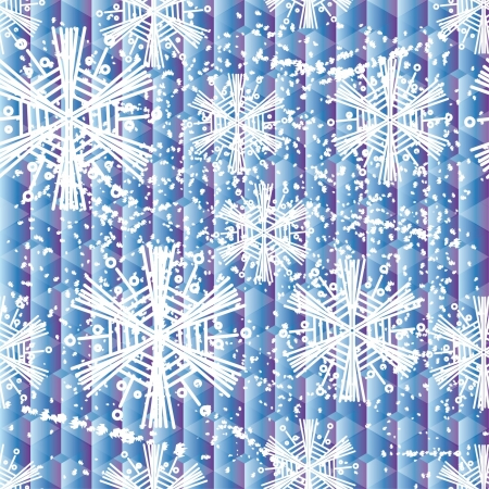 encasement: winter seamless with abstract vector snowflakes