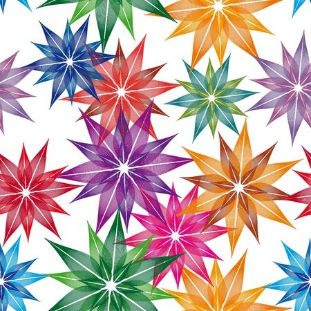 encasement: colorful flower vector  on white background. Seamless texture Illustration