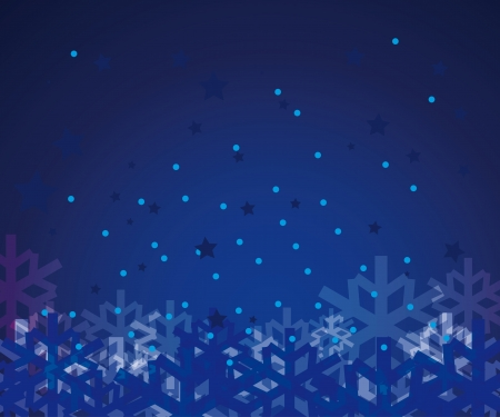 encasement: abstract vector winter background with snowflakes
