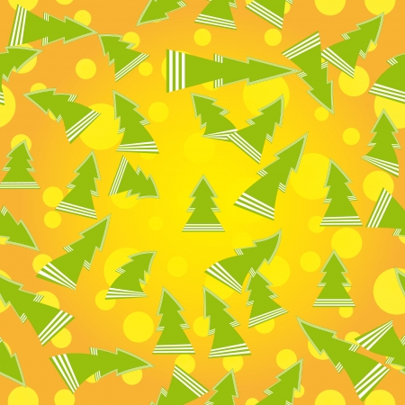 encasement: vector seamless pattern with firtrees by clipping mask