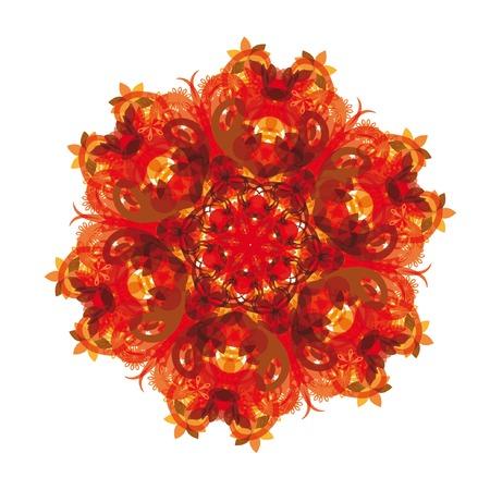 abstract vector flower  Illustration