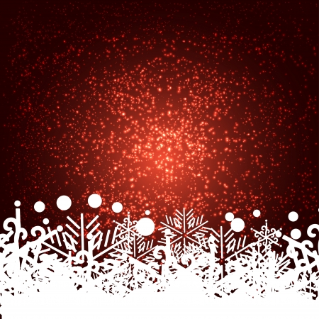 encasement: abstract background or frame  with snowflakes.
