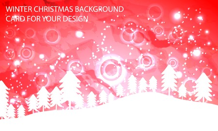 red abstract background with christmas trees Stock Vector - 23678449