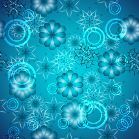 seamless texture with snowflakes.  Vector