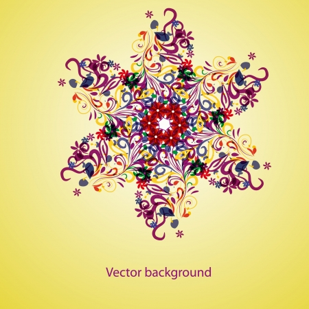 colorful abstract snowflake or flower.  Vector