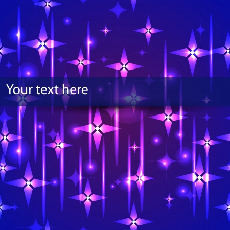 abstract winter seamless with stars and other design elements Vector