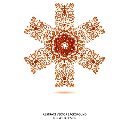 background  with abstract snowflake or flower.  Vector