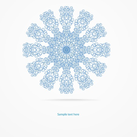 background for your design with abstract snowflake or flower. Vector