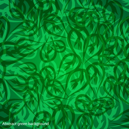 leafage: ecology seamless texture with leaves. Illustration