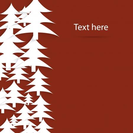 bordo: abstract frame with christmas trees.