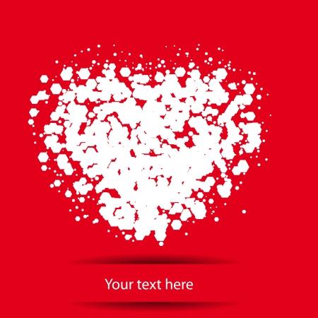 abstract heart Stock Vector - 24211907