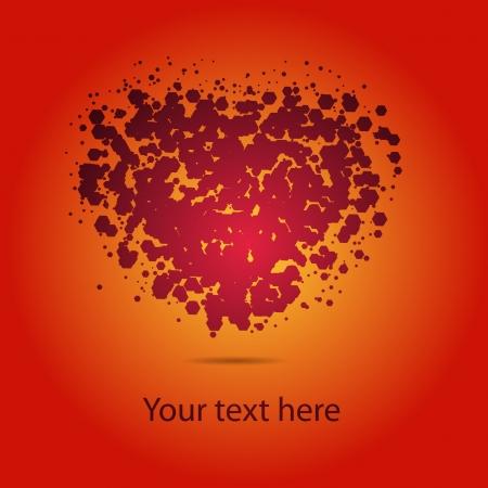 abstract heart Stock Vector - 24211913