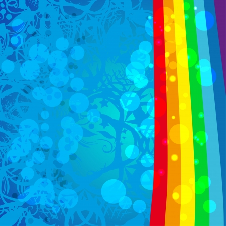 abstract frame with rainbow Vector